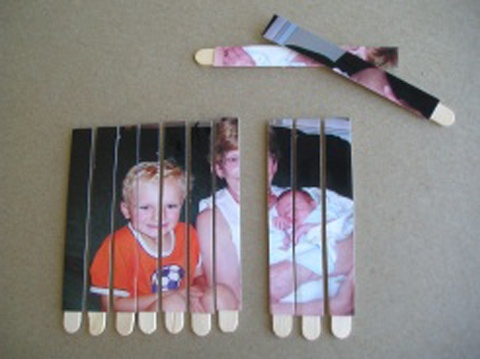 for friends who are teachers and the first few days of school.  all about me popsicle stick puzzles. line up popsicle sticks, glue a photo on and then cut in between each one. kids can put it together and tell you about the picture