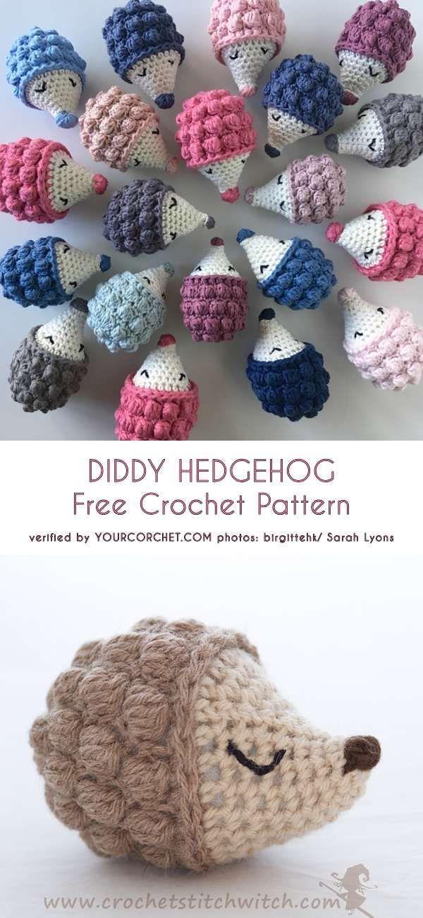 Diddy Hedgehog Free Crochet Pattern #crochet #diddy #hedgehog ...
