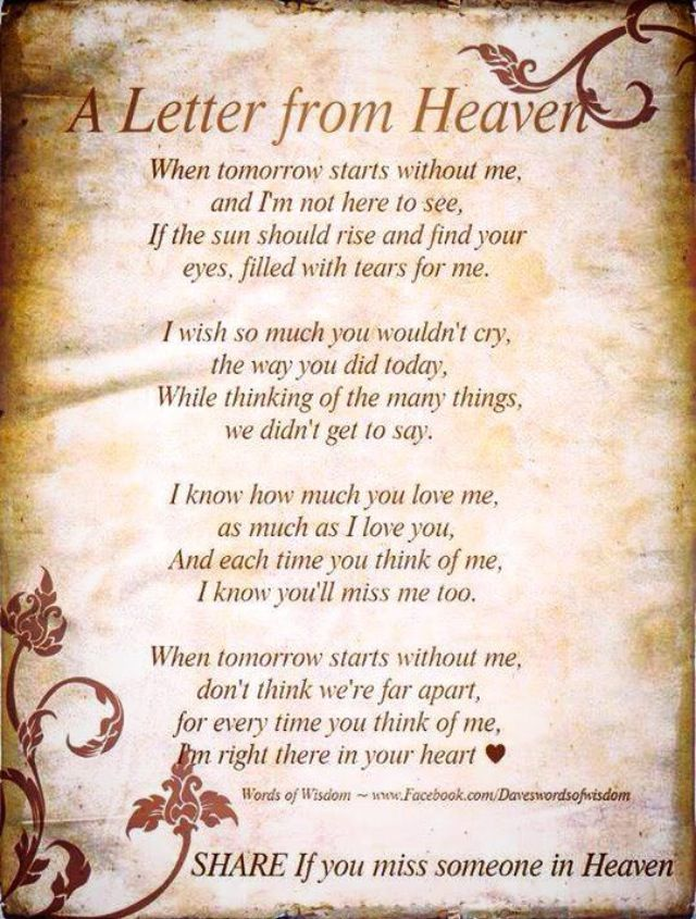 Missing My Mom Heaven