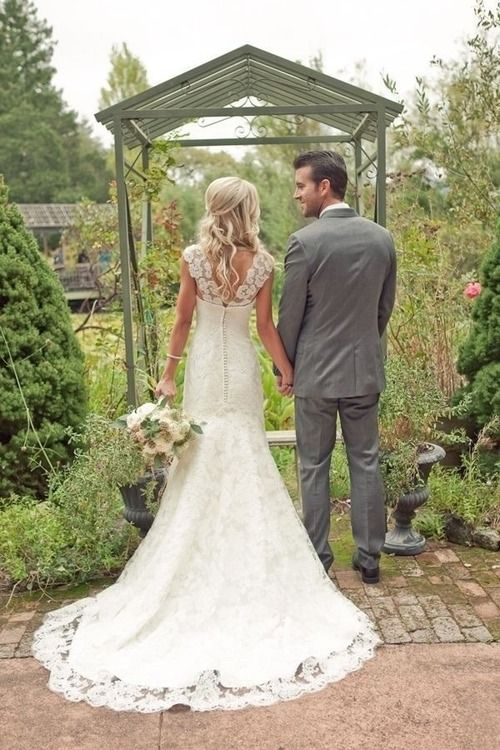 Beautiful lace wedding gown. Check out some of her ideas Renee