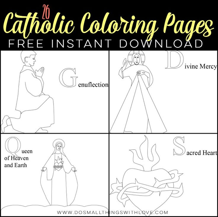 catholic schools week coloring pages - photo#17