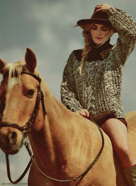 Hat, Horse, Warm Sweater, How can you go wrong?