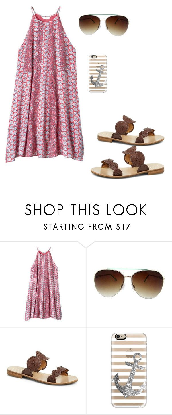 """""""Pretty please"""" by erinlarson0226 ❤ liked on Polyvore featuring Rebecca Taylor, Fantas-Eyes, Jack Rogers and Casetify"""