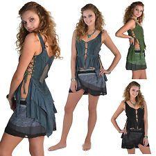 FLOATY FAIRY TOP, psy trance clothing, lace boho top, crochet steampunk faery