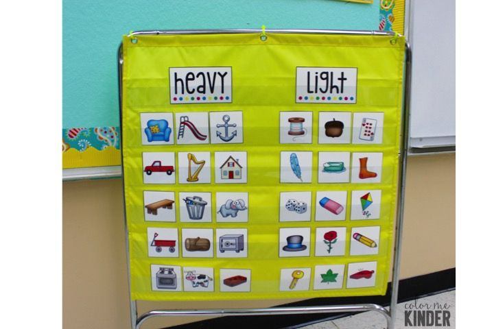 Lesson in a Snap: Heavy and Light Sorting Activity FREEBIE