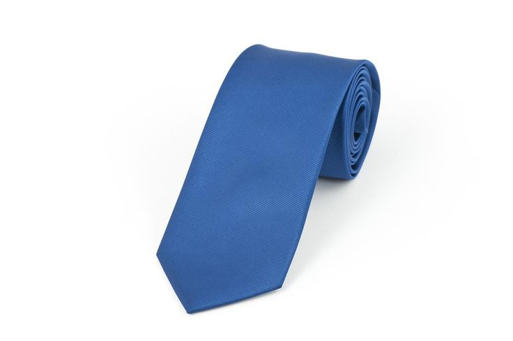 Mid Blue Self Stripe Necktie