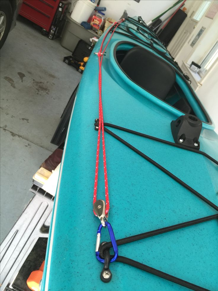 DIY Anchor Trolley on a Necky Touring Kayak