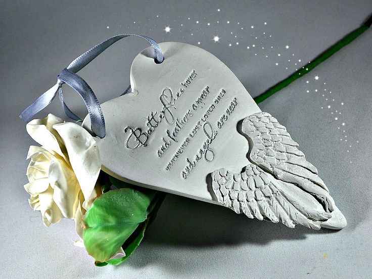 Memorial ornaments In loving memory Bereavement gifts Feathers appear when angels are near  Lost a loved one Condolence gift (7.99 GBP) by FrivolousCrafts