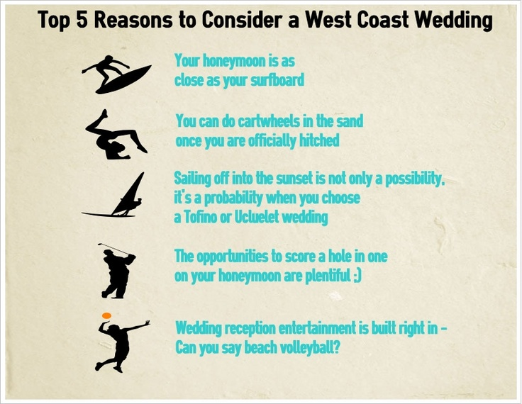 Top 5 Reasons to Consider a West Coast Wedding - Vancouver Island Business Profiles - Tofino Ucluelet's West Coast Wedding