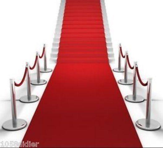 TAPIS ROUGE Décoration de Salle MARIAGE EGLISE CINEMA CEREMONIE 4,60 mètres in Maison, Fêtes, occasions spéciales, Articles de fête   eBay