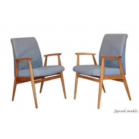 Dwa fotele skandynawskie z lat 60-tych, po renowacji drewna i tapicerki. Nowy design. #scandinavian #design #vintage #armchair #furniture #meble #fotele #60s