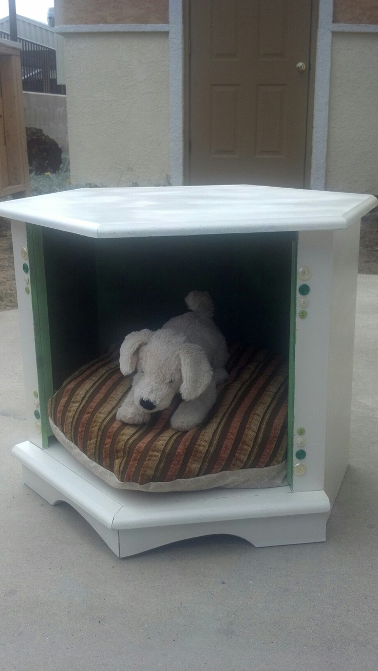 1000 images about end table dog bed on pinterest old for Dog bed table