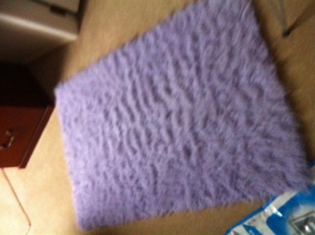 Mauve Fuzzy Carpet