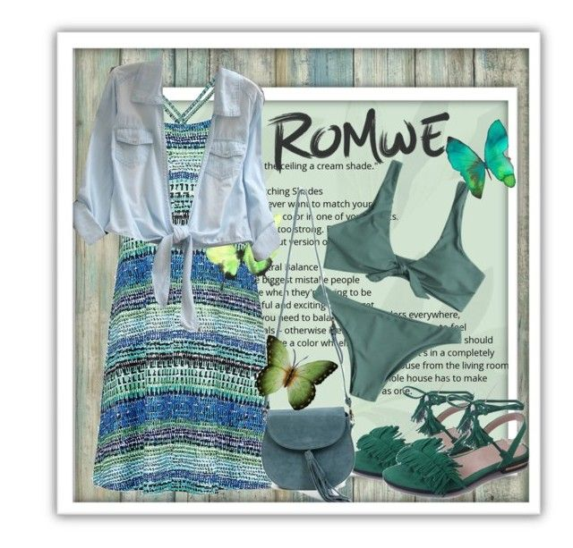 """Romwe"" by banhary ❤ liked on Polyvore featuring RoomMates Decor, Marmot, Azalea and NOVICA"