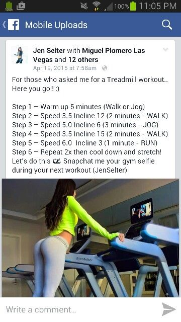 Jen Selter's treadmill workout gonna try this