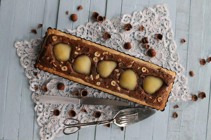 Tarte Poire Chocolat Noisette de Sotis