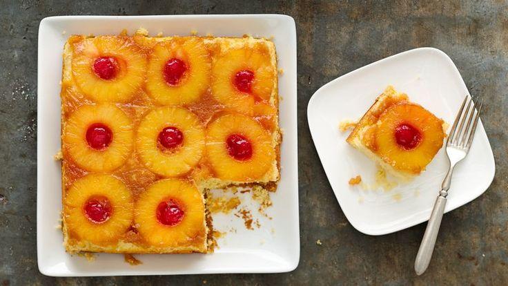 Skinny Pineapple Upside-Down Cake