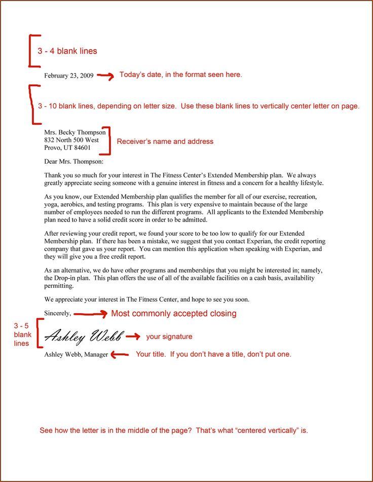 25+ melhores ideias de Business letter format example no Pinterest - business letter examples