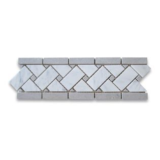grenzt listellos carrera wei boden dusche bad halle border basketweave marble border marble basketweave border tiles - Bordre Bad Bilder