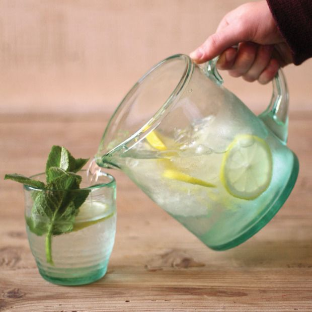 Fresh Recycled Glass Pitcher