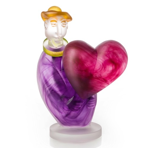 Love Messenger, art object made by Stani Jan Borowski (size 20x30cmH) - Borowski Art Glass