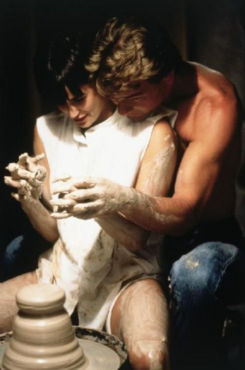 All too often, when I tell someone that I like to make wheel-thrown pottery, they make a reference to this movie. Ah, if only my classes came with a Patrick Swayze clone cuddled up to me!