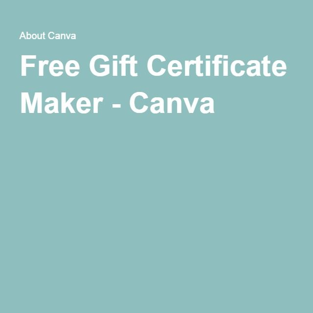 make a gift certificate online free