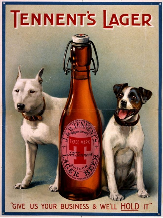 tennent's lager vintage ad | Tennent's Lager