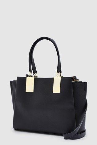b9c91e873e26 Black Hardware Detail Tote Bag | Work Wardrobe in 2019 | Bags, Work ...
