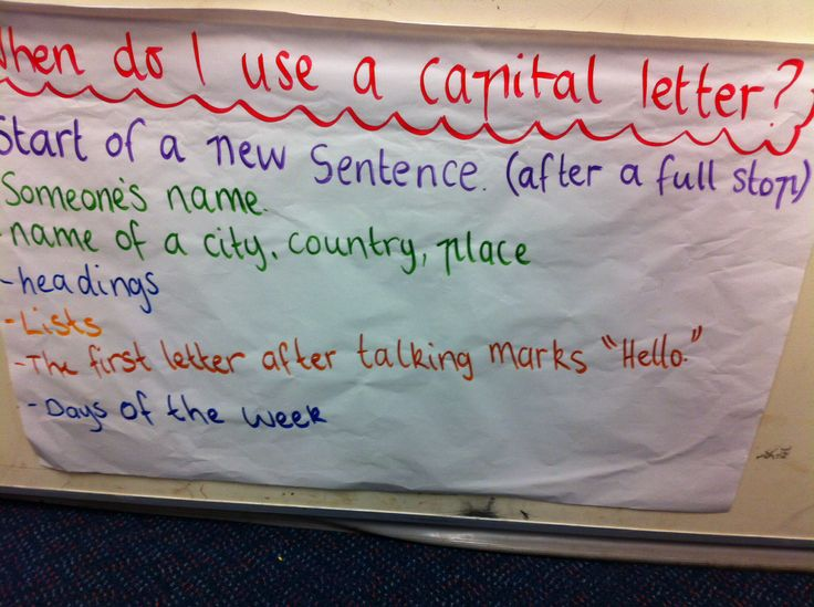 When to use capital letters