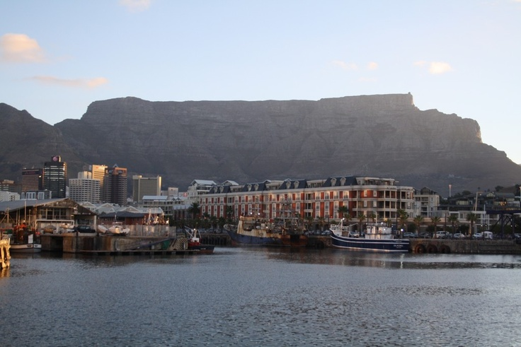 Table Mountain looming over the Victoria and Albert Waterfront, South Africa's most visited destination #capetown #southafrica