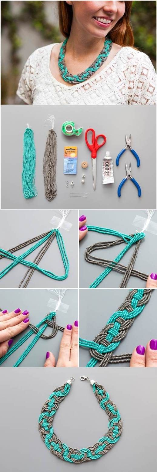 would def be cute with string too for a bracelet or with wire!! #beads #adorable #DIY