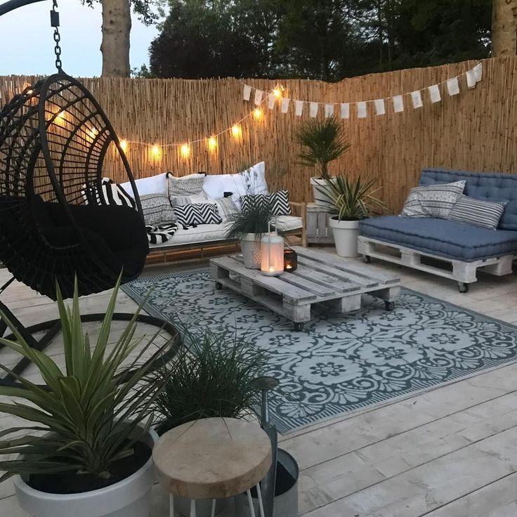 Diy patio - Girlanda świetlna w aranżacji werandy in 2020 ...