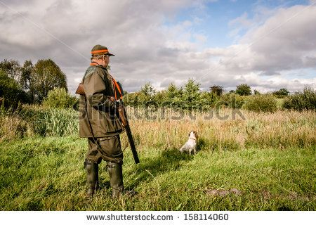 Hunter At A Lake, Waiting With His Dog Lagerfoto 158114060 : Shutterstock
