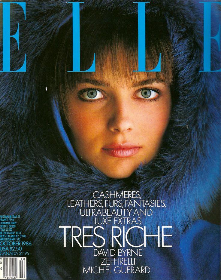 ELLE US, 1986. Model: Paulina Porizkova.
