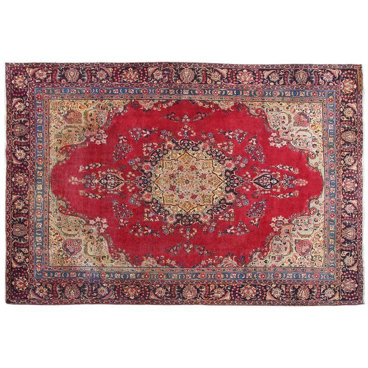 "11'7"" x 8'9"".Vintage Persian rug, Traditional area rug for sale, Oriental floor carpet, Floral design, Hand knotted, area rug, Vintage wool rug, Code : S0101255"
