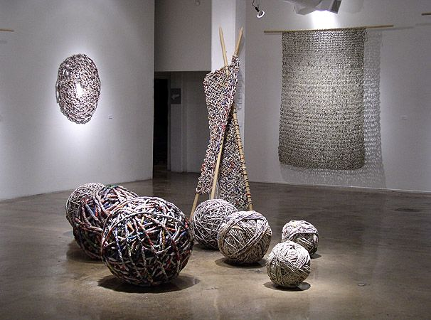 Unconsumption — Italian artist Ivano Vitali knits and crochets...