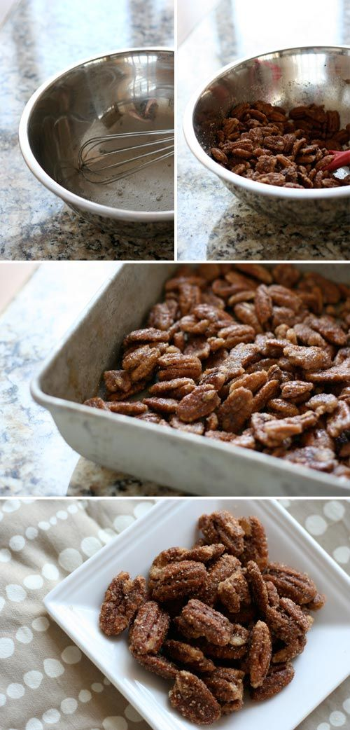 candied pecans recipe: Eggs White, Roasted Pecans, Sugar Pecans, Ground Cinnamon, Vanilla Extract, Sweet Tooth, Christmas Salad Recipes, Candy Pecans Recipes, Candied Pecans