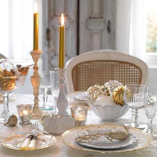 Vintage-style table setting with cut glass candlelit for New Year's Eve |Christmas 2013 | PHOTO GALLERY ...