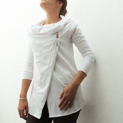 Learn how to make this cardigan, it's easy and it can be wear different ways.  (in Spanish and English)
