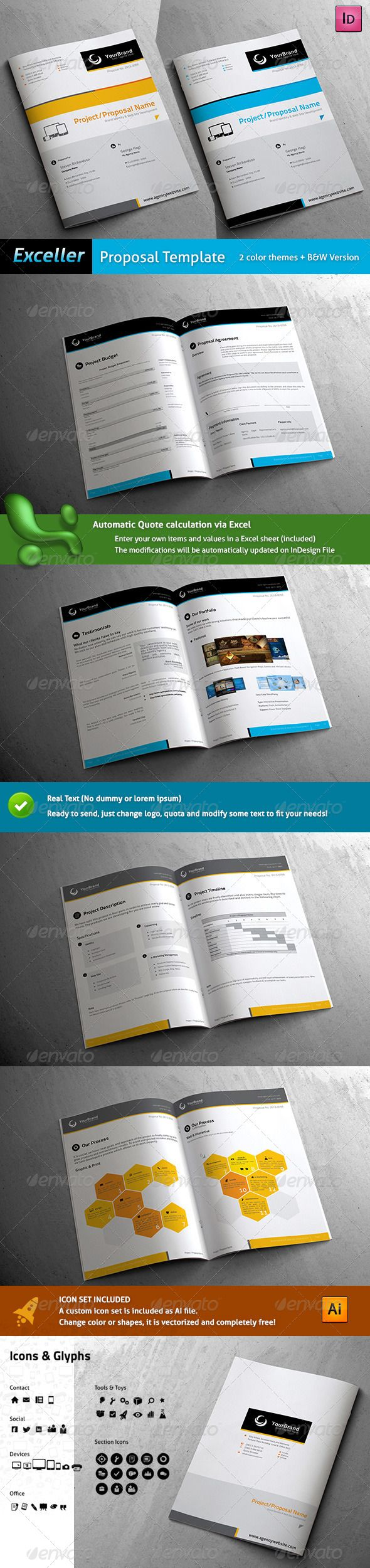 Exceller Proposal Template 298 best Proposal images