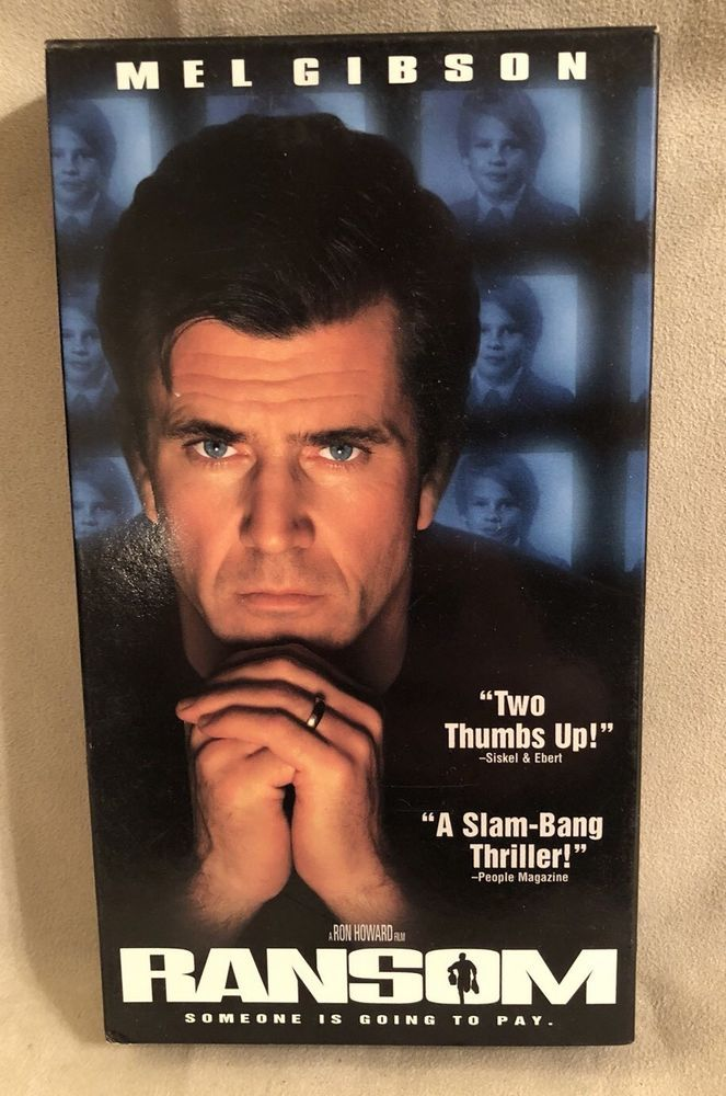 Ransom VHS Movie Mel Gibson Touchstone Home Video, EUC! Rated R