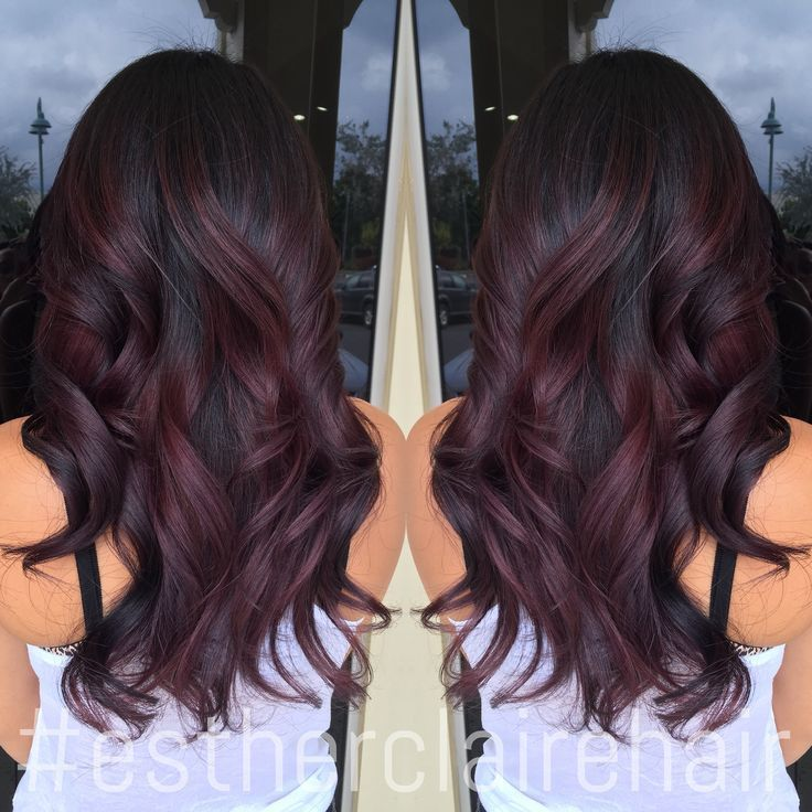 Burgundy Balayage Ombre Google Search Hair Goals Hair