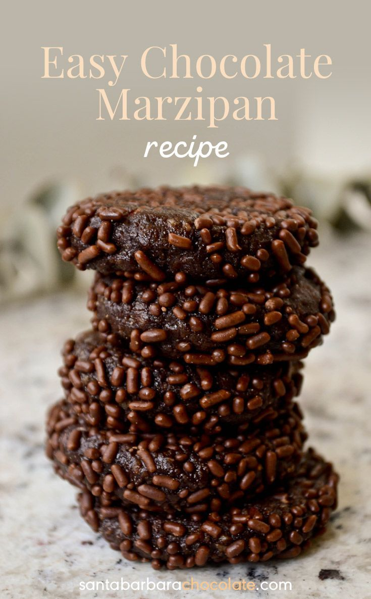 This easy chocolate marzipan recipe is based on a Persian marzipan recipe. Marzipan is a healthy candy containing protein and organic almond lecithin which helps with brain health.