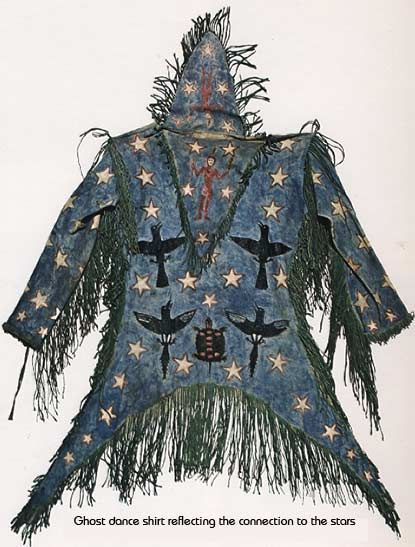 Ghost Dance Shirts were made by Great Plains native Americans for ceremonial purposes in the century to call back elements of the past.