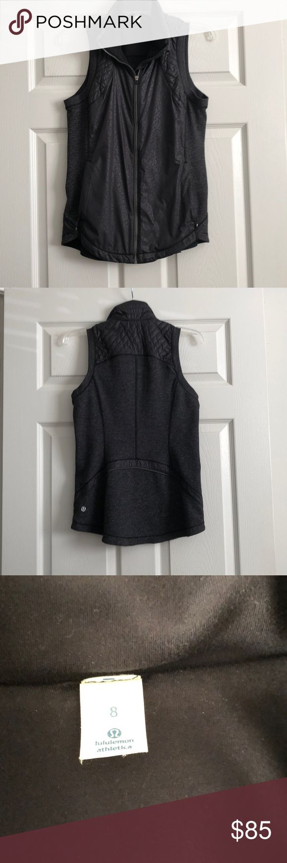 Lululemon vest Lululemon vest size 8. Like new, worn only a couple of times lululemon athletica Jackets & Coats Vests