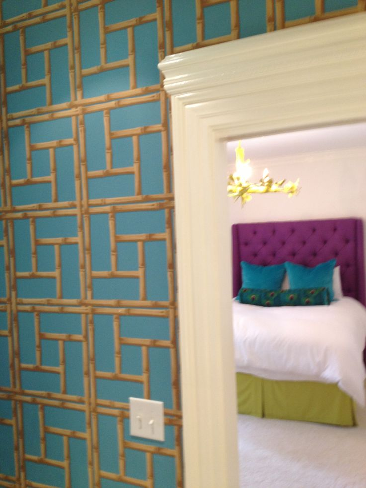 69 best turquoise bedroom inspiration images on pinterest for Turquoise wallpaper for bedroom