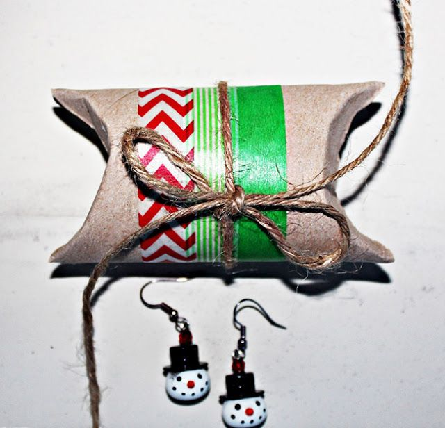 anma.no - 12 Days of Xmas - Giftbox created from a toiletroll core by Dt Bente.