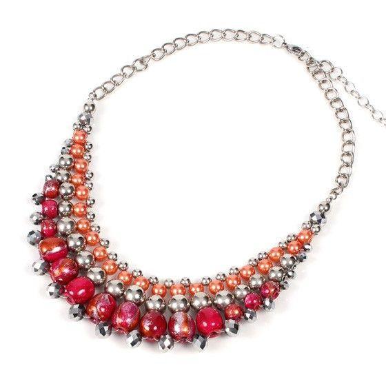 Necklace - Papaya Moon - Strawberry Ice