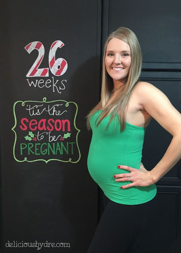 week 26 pregnancy chalkboard tracker